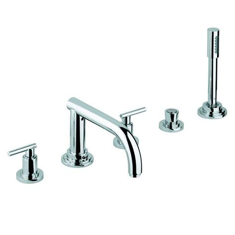 roman tub faucet with hand shower for 5 hole tub 6045 grohe atrio 2 handle deck mount roman tub faucet with hand