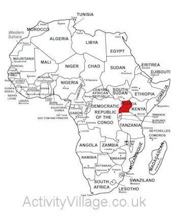 uganda map coloring page uganda printables and facts for kids