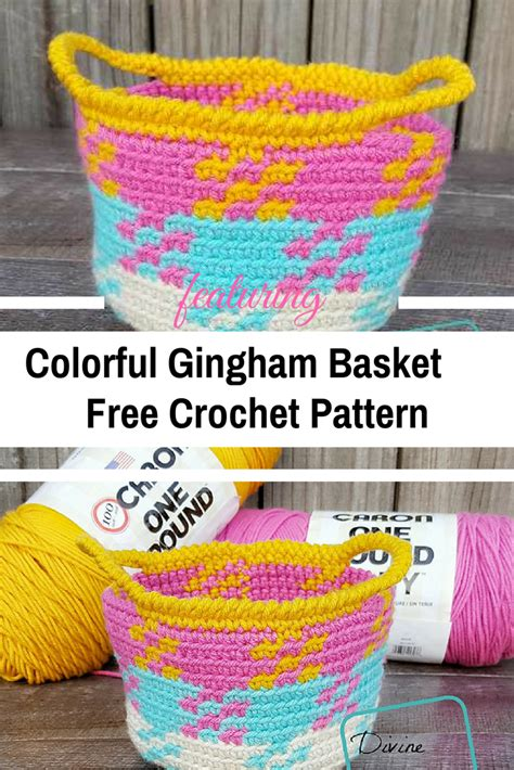 free crochet pattern websites colorful crochet gingham basket knit and crochet daily