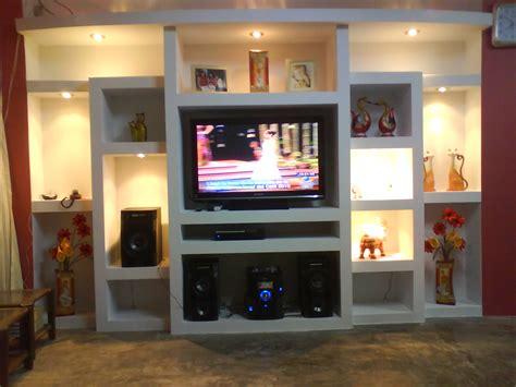 sistema drywall muebles de television