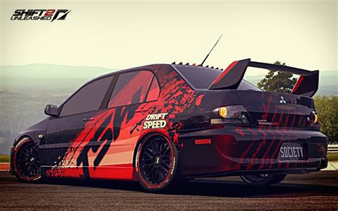mitsubishi sticker design nfs shift2u decals design lancer evo tsw youtube