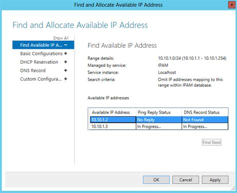 Find And Address Configuring Ipam Ip Address Spaces Network Wrangler Tech