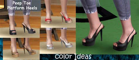 sims 4 platform heels mod the sims platform heels set 3 new meshes doesn t