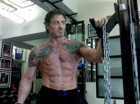 Sly In Steroids by Robotics Stallone Vs The Quot Velcro Muscles Quot