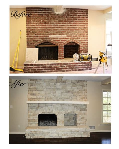 Reface Fireplace With by Pin Refacing A Brick Fireplace With Marble Tile On