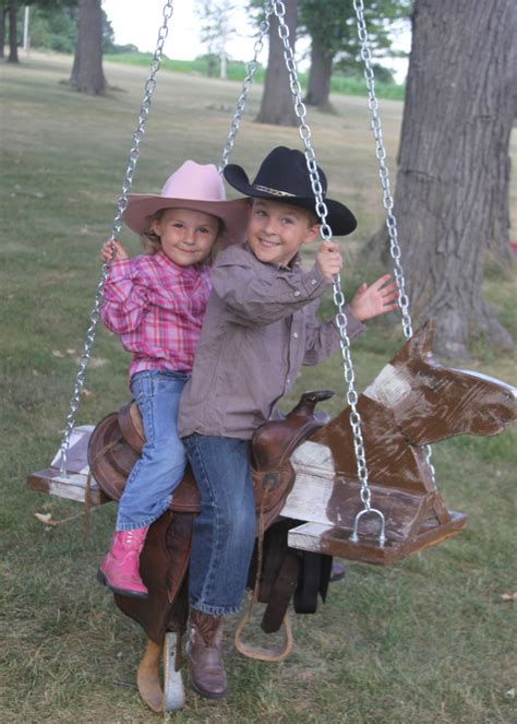 saddle swing outdoor horse and saddle swing a spotted pony