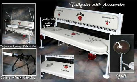 hitch bench tailgate party hitch mounted bench with bimini top table
