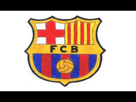 Tutorial Logo Barcelona | drawing how to draw a cartoon fc barcelona logo