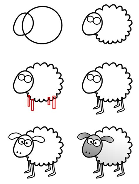 how to a sheep how to draw a sheep for step 2 models picture