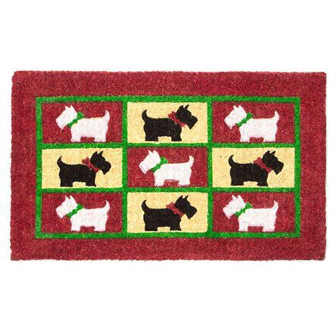 doormat designs scotty dogs doormat peters  kensington