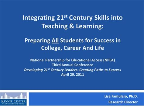 learn uph to all students change your email address to integrating 21st century skills into teaching and learning
