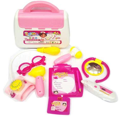Mainan Anak Koper Dokter Dokteran jual mainan dokter dokteran 13 tas dokter koper pink