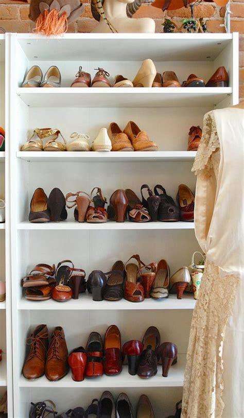billy bookcase shoe storage 30 creative shoe storage ideas 2017