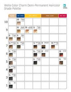 wella color charm chart wella color charm color chart images