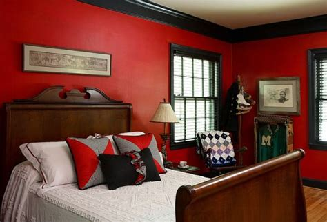 red and black boys bedroom view in gallery eclectic boys bedroom seems drenched in