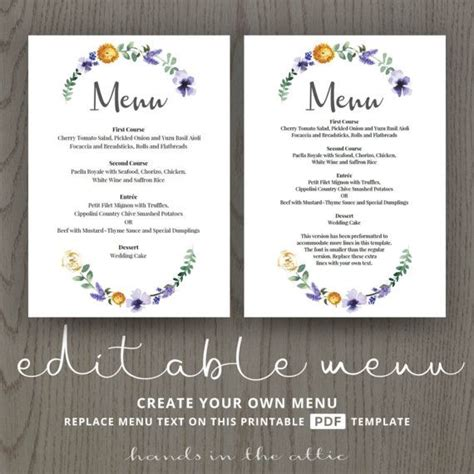 Wedding Dinner Menu Cards For Wedding Buffet Menu Ideas Buffet Menu Cards