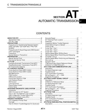 motor auto repair manual 2007 nissan titan electronic toll collection 2007 nissan titan automatic transmission section at pdf manual 342 pages