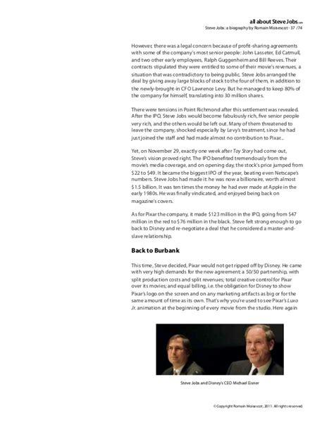 the biography of steve jobs steve jobs biography