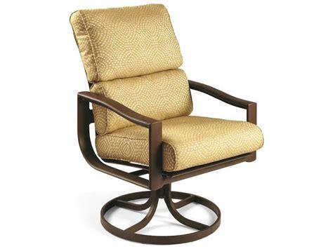 Winston Belvedere Cushion Aluminum Swivel Tilt Dining Swivel Chair Cushion