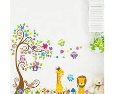 Wandtattoo Kinderzimmer Tiere Groß wandtattoo tiere 187 g 252 nstige wandtattoos tiere bei livingo