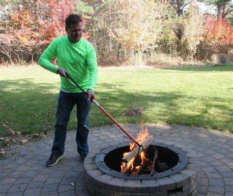 campfire log mover  turner