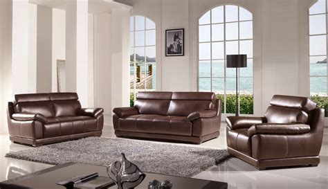 3pc living room set 3 pc modern chocolate brown leather sofa loveseat chair living room set ebay