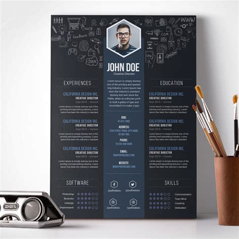 Creative Resume Design Templates by 23 Free Creative Resume Templates With Cover Letter