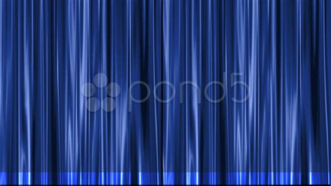 blue stage theater curtain opens from center to black matte clip 7762277