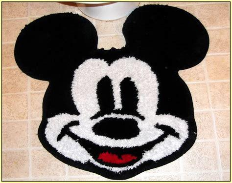 Disney Mickey Mouse Shaped Bath Rug - mickey mouse bath rug home decor