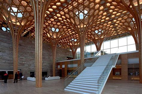 wood house structure design shigeru ban s gorgeous nine bridges golf club house is inspired by traditional