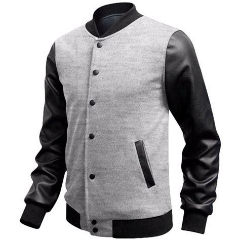 jaqueta baseball masculina de couro r 149 00 em