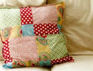 Patchwork Projects For Beginners - patchwork pillow a tutorial bright and blithe