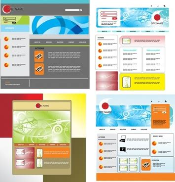 website templates for adobe illustrator free adobe illustrator web template free vector download