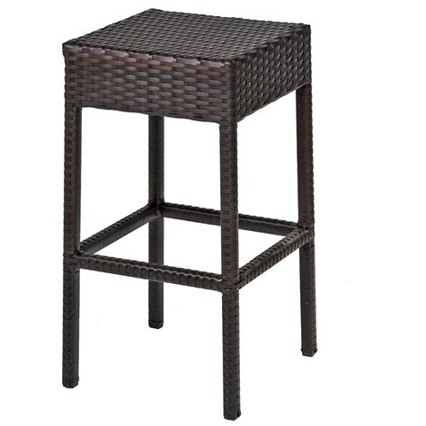 Wicker Bar Table 7 Wicker Bar Table Set W Barstools