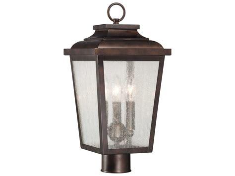 Minka Outdoor Lighting Minka Lavery Irvington Manor Chelesa Bronze Three Light Outdoor Post Light Mgo72176189