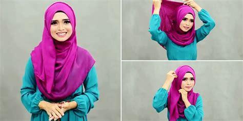 tutorial hijab wisuda tutup dada cara mudah memakai hijab yang menutup dada lifestyle wanita