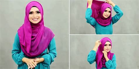 tutorial hijab menutup dada fashion tutorial hijab modern simpel yang menutup dada