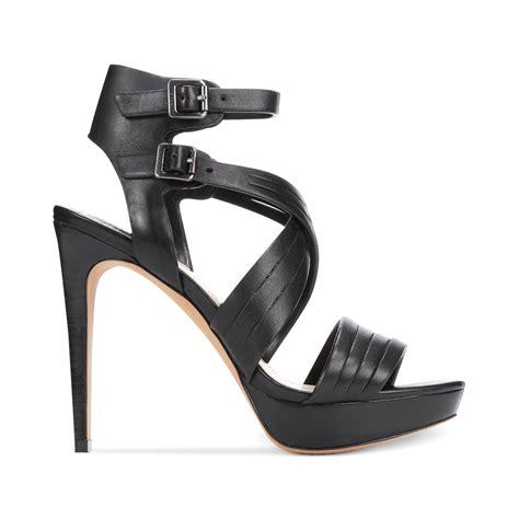 vince camuto jistil high heel platform sandals in black lyst