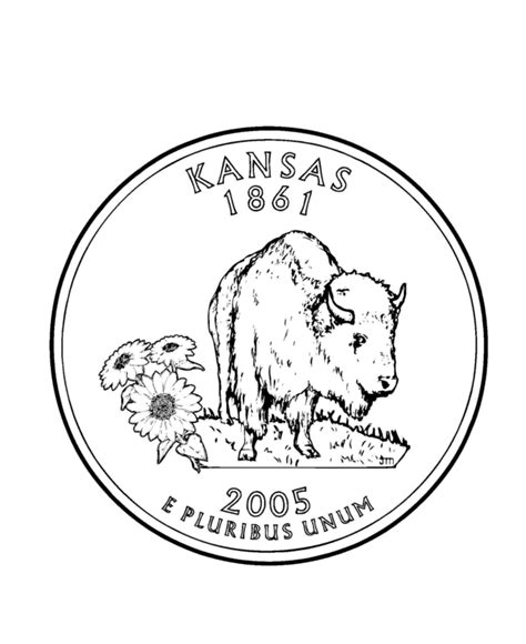 kansas state flag coloring page coloring home
