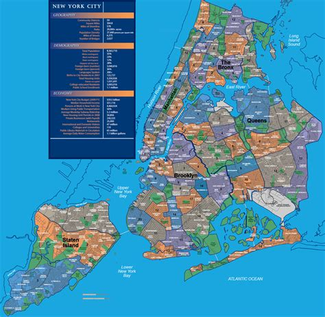 sections of new york city map of new york city with neighborhoods 2 maps update