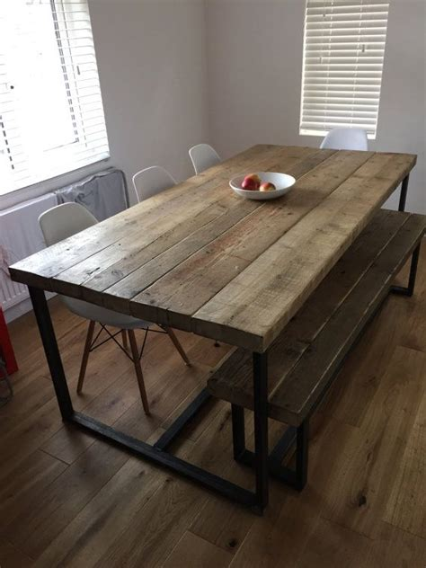 wood and metal dining table best 25 metal dining table ideas on made to