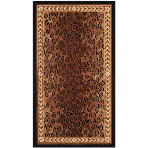 5 X 9 Area Rug Safavieh Chelsea Black Brown 3 Ft 9 In X 5 Ft 9 In Area Rug Hk15a 4 The Home Depot