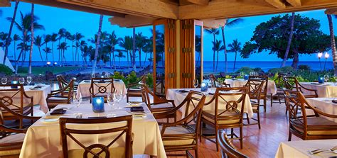 canoe house hawaii kohala coast restaurant canoehouse at mauna lani bay hotel
