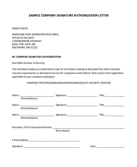 authorization letter by company sle letter of authorization 9 exles in pdf word
