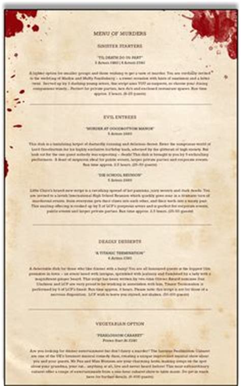 murder mystery dinner scripts 1000 images about murder mystery on