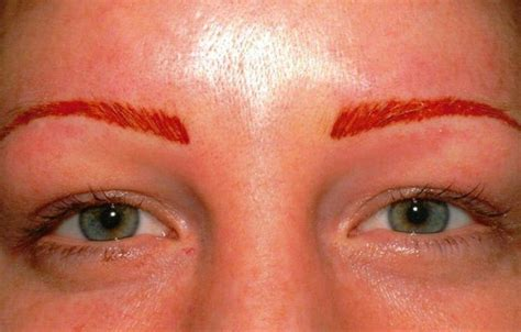 above eyebrow tattoo permanent eyebrow tattooing for would you do it
