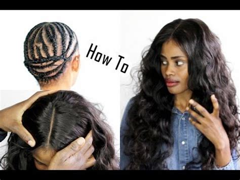 can i have a middle part weave without hair showing 25 best ideas about sew in braids on pinterest hair sew