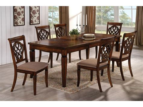 coaster dining room table coaster dining room dining table 103391 hickory