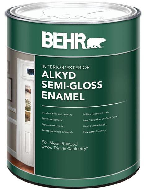 best interior semi gloss paint behr behr interior exterior alkyd semi gloss paint 946 ml
