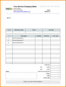 Invoice Template For Numbers 8 Printable Invoices Receipt Templates
